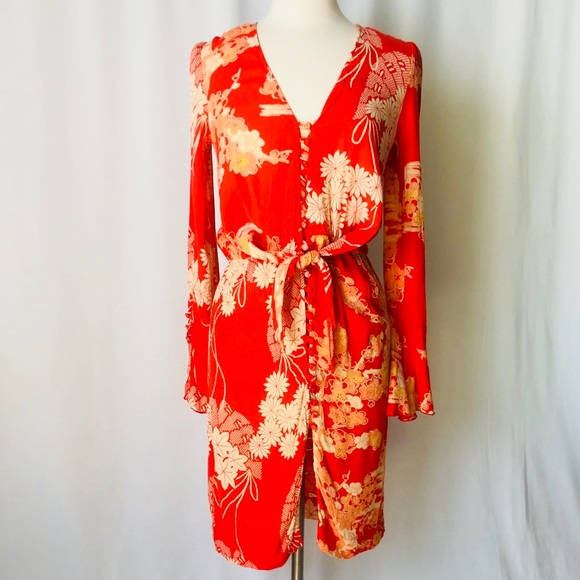 temperament shoes huge discount good service NWT Free People Mixed Print Twist Dress XS NWT